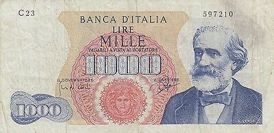 Italy 1000 Lire Banknote 1962-68 (Pick 96)
