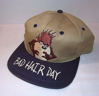 Taz Hat Bad Hair Day Vintage SnapBack 1994 Tasmanian Devil Looney Toons Cap