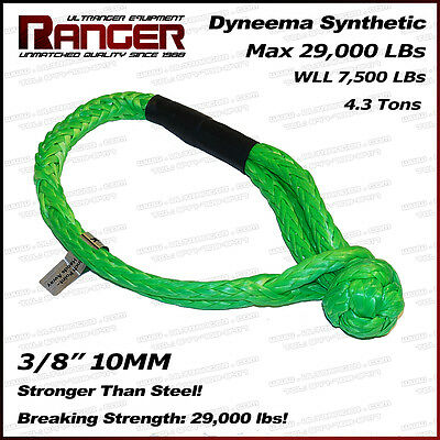 Ranger Soft Shackle Rope Dyneema Synthetic 3/8 Inch (29,000LBs Max Breaking)