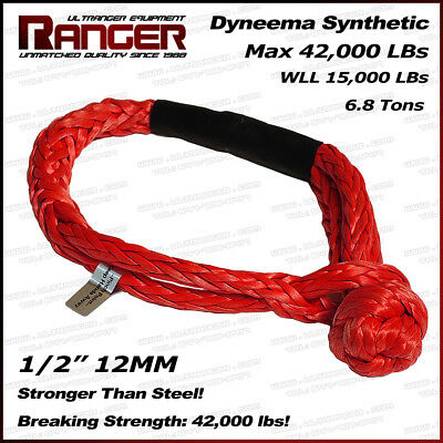Ranger Soft Shackle Rope Dyneema Synthetic 1/2 Inch (42,000LBs Max Breaking)