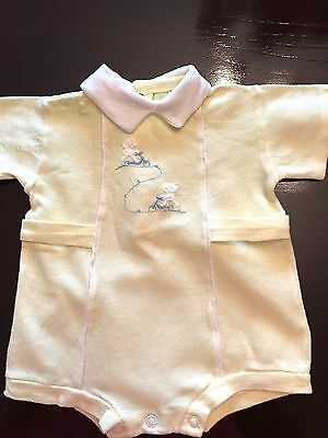 Carter's Boys Size 6 Month Yellow Short Sleeve One-Piece Summer Outfit