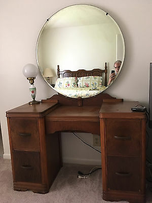Vintage Dressing Table or Vanity with Mirror