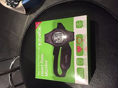 NEW Kinetik Hrm3 Heart Rate Monitor Watch/Chest Strap - Black