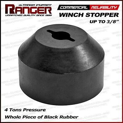 "Ranger Rubber ATV, UTV, Jeep, Truck Winch Stopper Saver 3/16"", 1/4"", 5/8"", 3/8"""