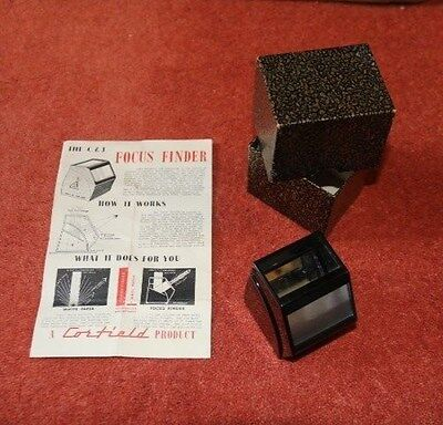 Corfield C&G focus finder. Vintage photography. Excellent condition, boxed.