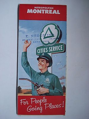 Map Montreal Canada Cities Service 1959