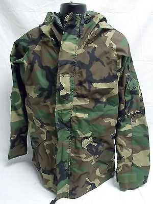 Military Woodland Gore-Tex Jacket Bdu Camouflage Large/long Parka Ecwcs A8