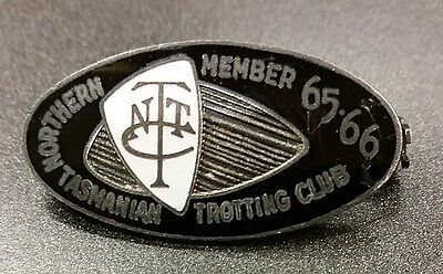 Northern Tasmanian Trotting Club Enamel Badge • 1965-66