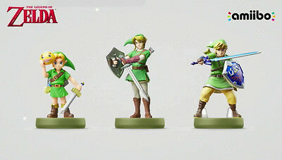 The Legend of Zelda Majora's Mask, Twilight Princess & Skyward Sword Link Amiibo