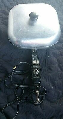 Vintage Sunbeam Electric Skillet with Lid Model FP-10A Tested & Working Cord
