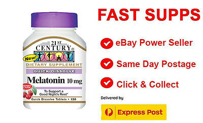 21st Century Homeopathic Melatonin Cherry Flavor 10 mg 120 Dissolve Tablets