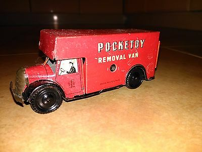Rare Brimtoy  Tin Pocketoy Removal  Lorry Van - Truck Clock Work Gt. Britain