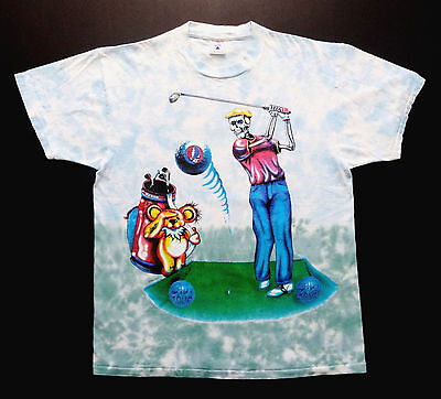 Grateful Dead Shirt T Shirt Golf Ball Golfing PGA Vintage 1994 Washington GDM L