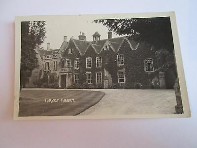 Postcard of Turvey Abbey posted 1953