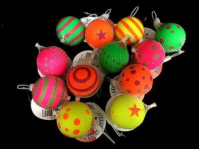 12 x Solid Sponge Rubber Bouncing Ball  Assorted New (p3)