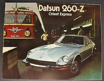 1974 Datsun 260-Z Catalog Sales Brochure Excellent Original 74