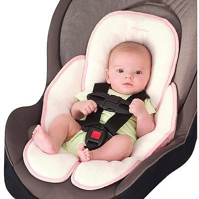 Baby Infant Snuzzler Head And Body Support Car Seat Strollers Swing Pink Cotton