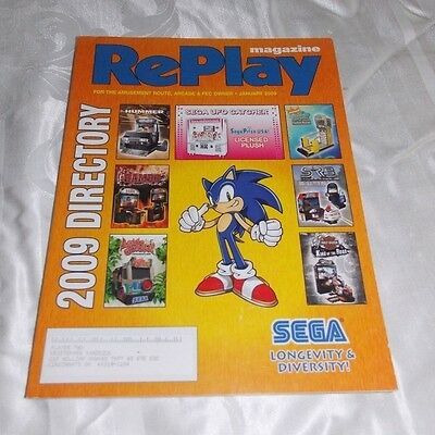 January 2009 Replay Magazine,monthly Magazine For The Amusement Game Industry