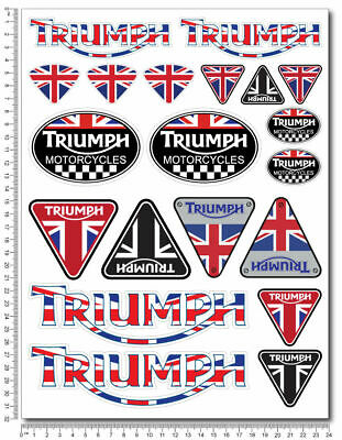 Triumph Large decal sticker set 24x32 cm Speed triple Daytona 675 Laminated