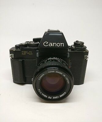 Canon F1 New (AE Prism) + 50mm 1.4 FDn (In good condition, fully working)