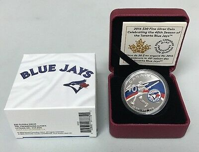 Toronto Blue Jays $20 Fine Silver Coin 40th Season RCM Canada