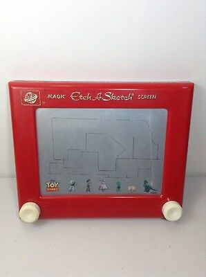 Vintage Disney Ohio Art Magic ETCH A SKETCH Screen Red 505 Toy Story World Toys
