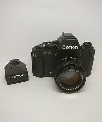 Canon F1 New (AE prism & Eye level Finder FN) + 50mm 1.4 FDn (Good condition)
