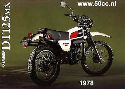 YAMAHA DT 125 MX SERVICE MANUAL MANUEL D'ATELIER WARTUNGSANLEITUNG workshop 79