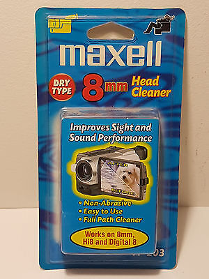 brand new maxell 8mm dry video head cleaner  (VP-203)