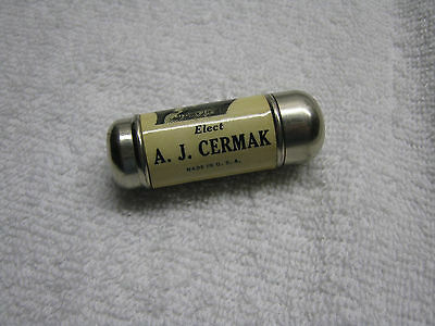 A J Cermak Chicago Mayor Celluloid Sewing Thimble Holder Not A Political Pinback