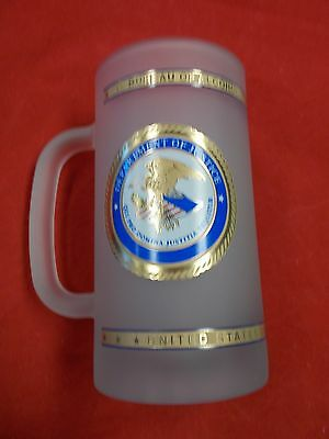 Frosted Beer Mug / Department Of Justice / ATF / Special Agent Logos