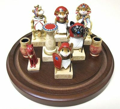 Wee Forest Folk Tutmouse's Egyptian Chess Set One of Each Piece (6) + Extras