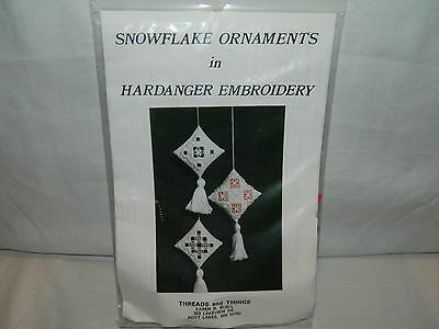 Snowflake Ornaments In Hardanger Embroidery Kit