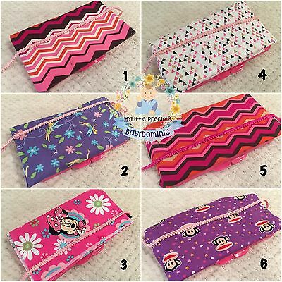 Minnie Mouse Wipes Case. Zigzag Wipes Case. Triangle Travel Wipes Case