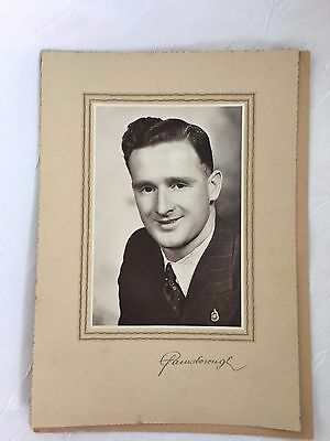 Vintage Photograph - Photo - Young Man - 18 X 26 Cm - In Folder