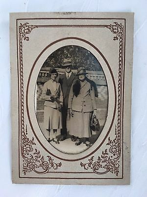 Retro/vintage - Photograph - Man And Two Ladies - Early 1900's - Photo