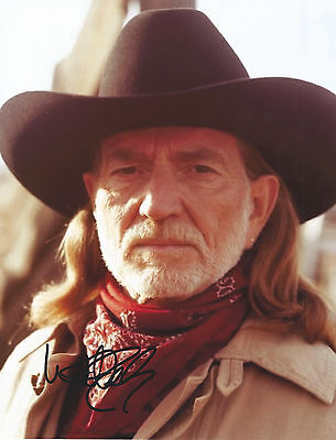 Willie Nelson Signed Autographed 8.5x11 Photo With COA. Country Music Legend.