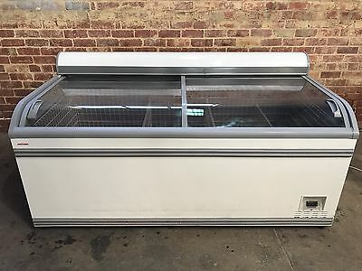 Large Commercial Display Chest Freezer 1000L Capacity