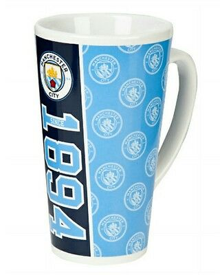 Manchester City FC Official Established Football Crest Latte Mug