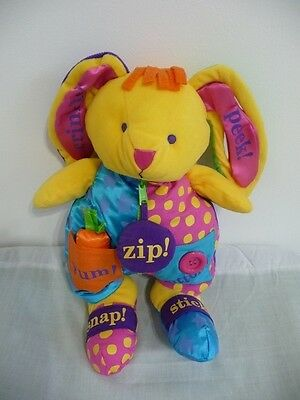 2000 Carters Plush Activity Bunny Rabbit Teaching Dress Learning Baby Toy