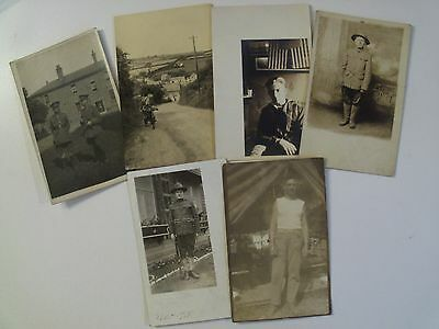 EARLY RPPC 6 WWI SOLDIERS & CAMP POSTCARD LOT! WW1 ERA & BEFORE WWI REAL PHOTO c
