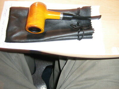 This Pipe Will Surly Stand Out =Modern Day Metal Insert Tobacco Pipe And Pouch