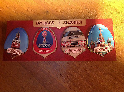 FIFA Confederations Cup 2017 Russia host city Moscow 4 badges