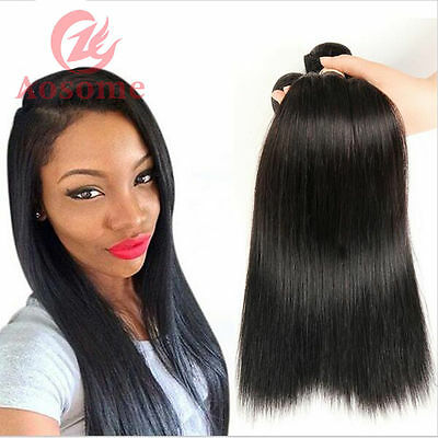 100G/Bundle 8A Unprocessed Peruvian Virgin Human Hair Extensions Weave Straight