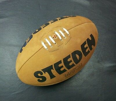 Steeden Traditional Laced Leather Full Size Rugby League NRL Match Ball *NEW*