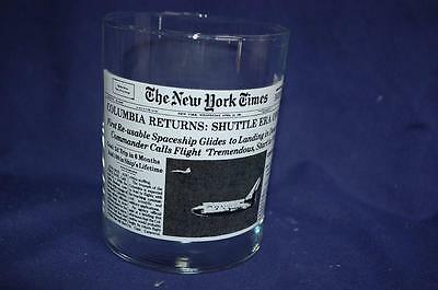 """Wendy's New York Times """"Columbia Returns: Shuttle Era Opens"""" Glass Space History"""