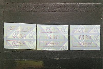 New Zealand lot of 3 vending machine stamps mint NH