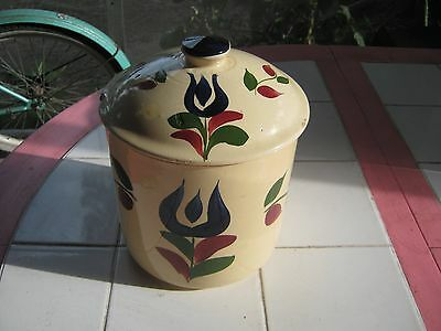 Watt Pottery Dutch Tulip 72 Cannister With Lid