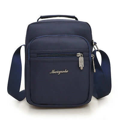 Men Nylon Messenger Crossbody Shoulder Bag Travel Outdoor Satchel Handbag Blue