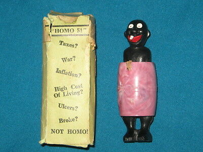 Vintage Old Black Americana Risque Novelty Toy w/ Box